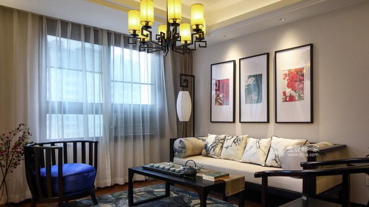 淡泊清朗,诗意人生-客厅效果图及设计说明