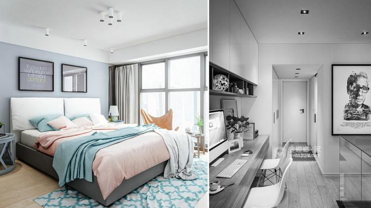 个性魅力128平现代别墅-卧室效果图及设计说明