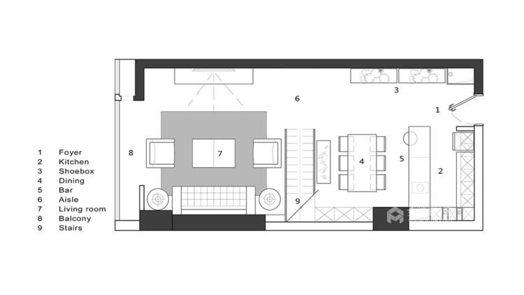 个性魅力128平现代别墅-业主需求&原始结构图