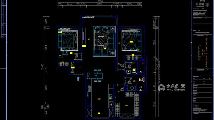 118²以简约诠释奢华-平面设计图及设计说明
