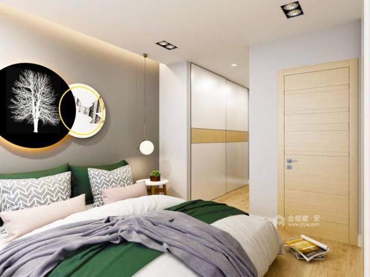 北欧的超大客餐厅原木生活-卧室效果图及设计说明