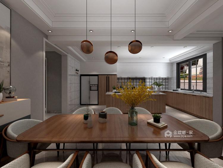 北欧也适合别墅-餐厅效果图及设计说明