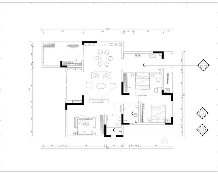 简欧混搭-平面设计图及设计说明