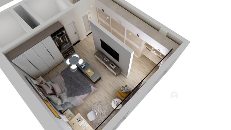 北欧也适合别墅-卧室效果图及设计说明