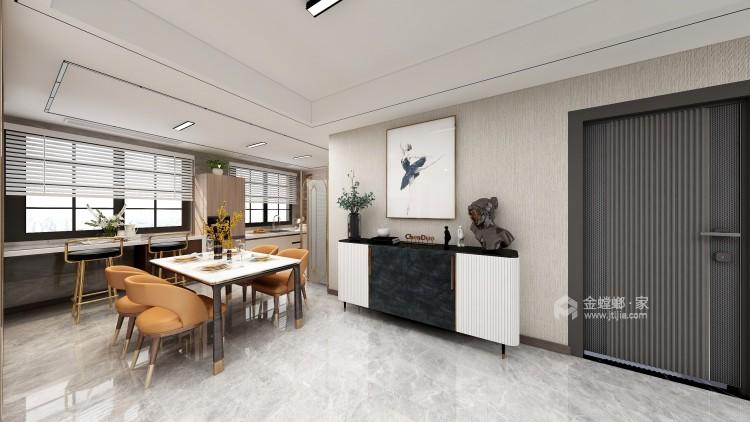 爱马仕橙点缀的现代轻奢家居-客厅效果图及设计说明