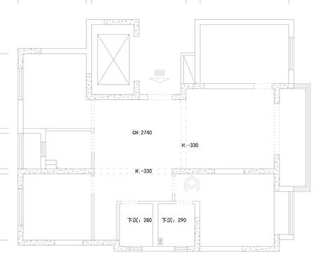 爱马仕橙点缀的现代轻奢家居-业主需求&原始结构图