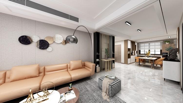 爱马仕橙点缀的现代轻奢家居-餐厅效果图及设计说明