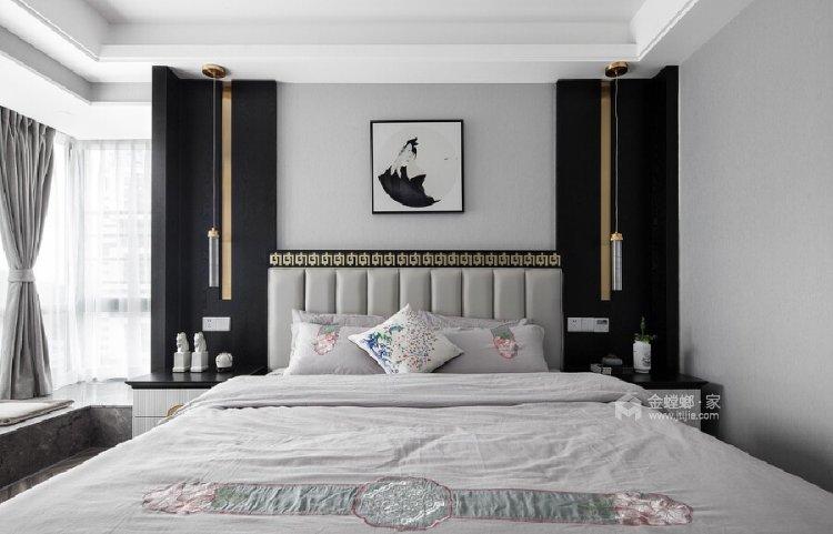 140平善水居新中式风格-卧室效果图及设计说明
