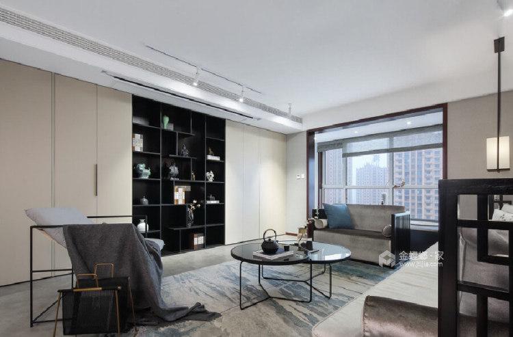 180平善水居新中式风格-极致东方-客厅效果图及设计说明