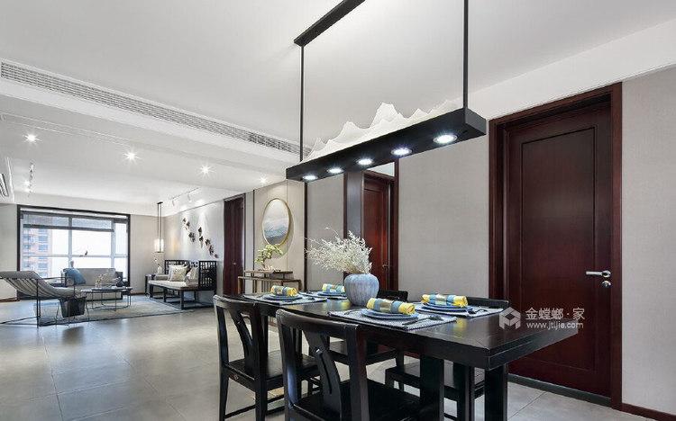 180平善水居新中式风格-极致东方-餐厅效果图及设计说明