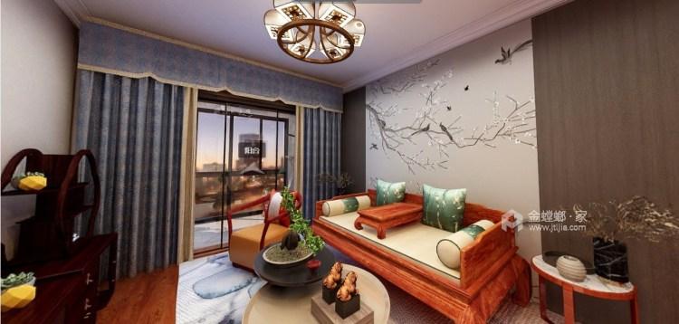 120平星纳家园新中式风格-中式复古,意味深远-客厅效果图及设计说明