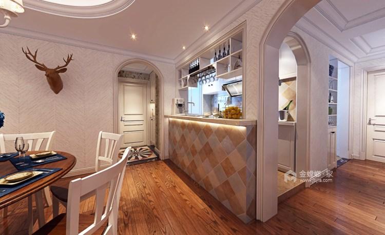 80平五浦汇地中海风格-别样演绎-餐厅效果图及设计说明