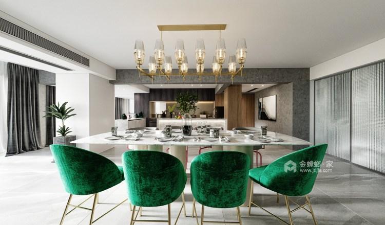50平万达茂现代风格-开放性空间的随意搭配-餐厅效果图及设计说明