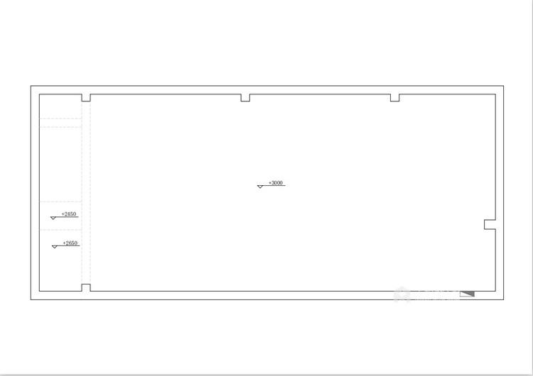 50平万达茂现代风格-开放性空间的随意搭配-业主需求&原始结构图