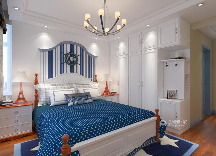 120平万佳天玺地中海风格-当家装爱上地中海的蓝天白云-卧室效果图及设计说明