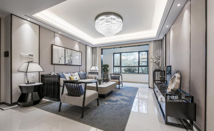 220平锦绣城新中式风格-超有温度的高品质生活!-客厅效果图及设计说明