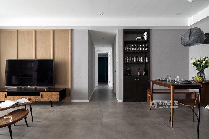 110平名士豪庭现代风格-高级灰的冷色调-餐厅效果图及设计说明