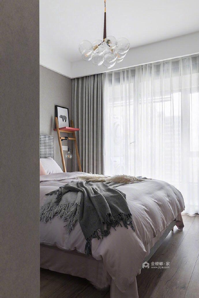 110平名士豪庭现代风格-高级灰的冷色调-卧室效果图及设计说明