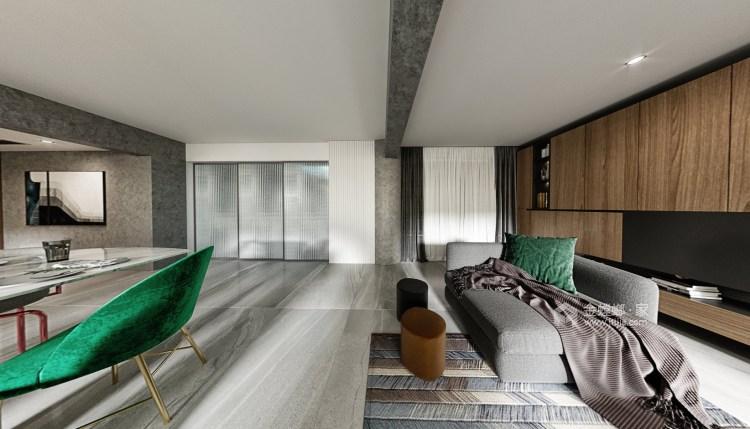 50平万达茂现代风格-开放性空间的随意搭配-客厅效果图及设计说明