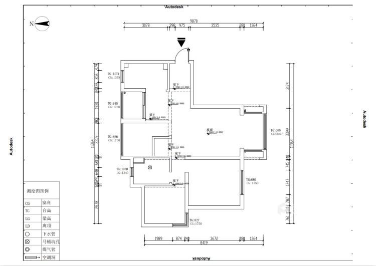 120平星纳家园新中式风格-中式复古,意味深远-业主需求&原始结构图