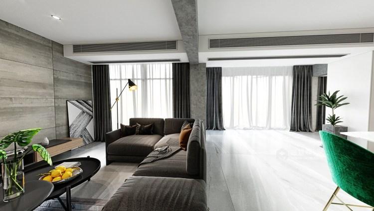 50平万达茂现代风格-开放性空间的随意搭配-卧室效果图及设计说明