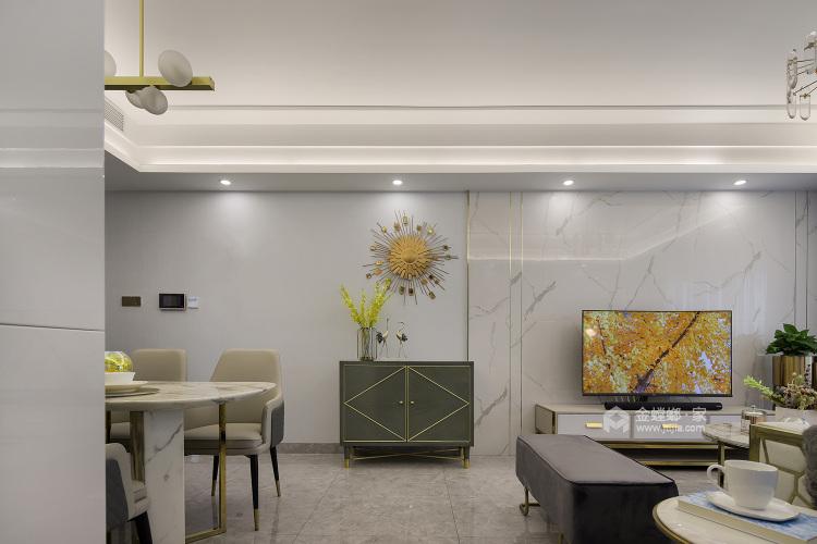 144平五坊园现代风格-黄浦江边,有你作伴,携手启程我们的旅途-客厅效果图及设计说明