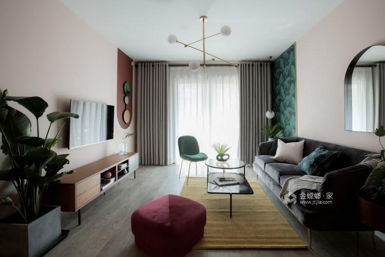 100平龍湖天璞現代風格-一種幸運是可以遇見-客廳效果圖及設計說明
