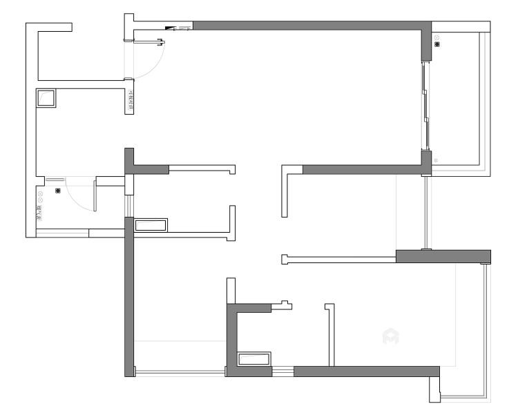 144平五坊园现代风格-黄浦江边,有你作伴,携手启程我们的旅途-业主需求&原始结构图