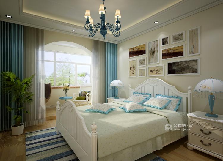 120平万佳天玺地中海风格-当家装爱上地中海的蓝天白云-卧室