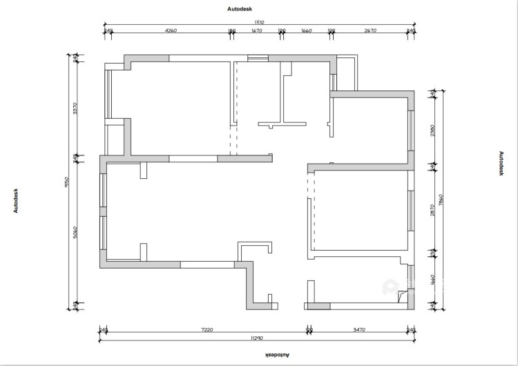 80平五浦汇地中海风格-别样演绎-业主需求&原始结构图