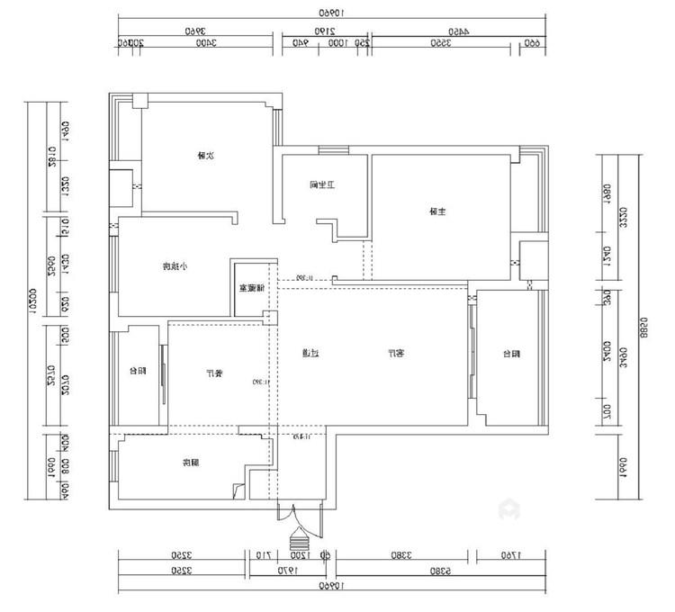 110平柏庄春暖花开北欧风格-逐光-业主需求&原始结构图