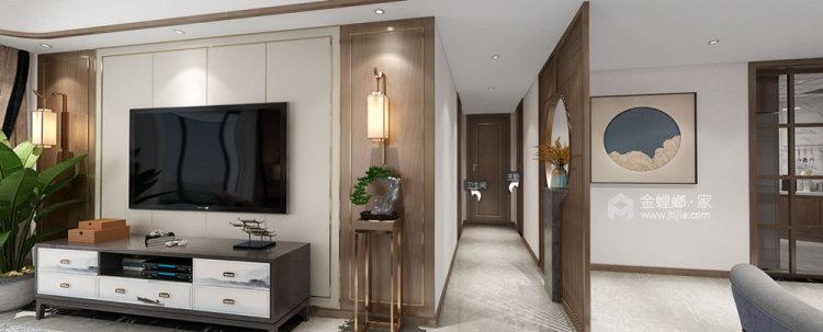 132平苏宁千秋情缘新中式风格-客厅效果图及设计说明