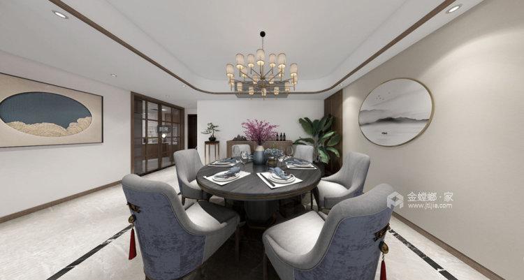 132平苏宁千秋情缘新中式风格-餐厅效果图及设计说明
