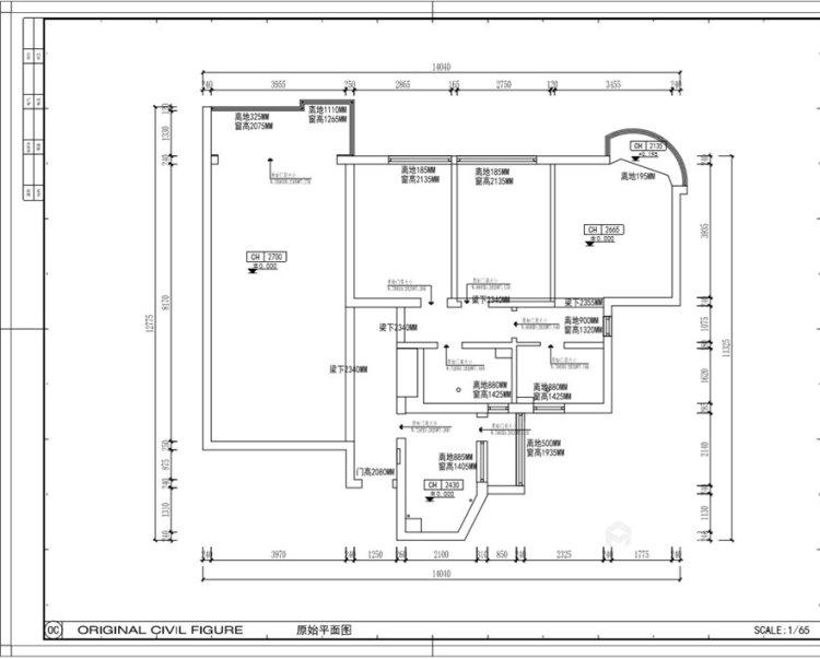 132平苏宁千秋情缘新中式风格-业主需求&原始结构图