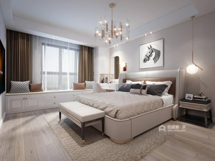142平财信铂悦府现代轻奢风格-卧室效果图及设计说明