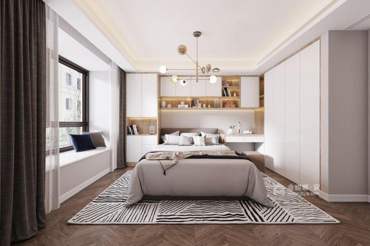 110平誉峰苑北欧风格-简单计划-卧室效果图及设计说明