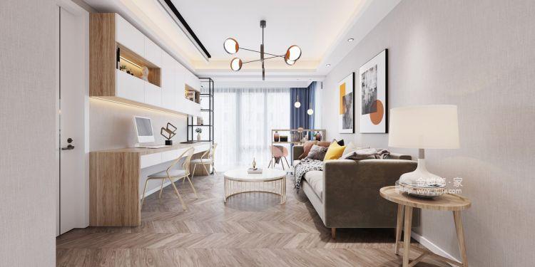 110平誉峰苑北欧风格-简单计划-客厅效果图及设计说明
