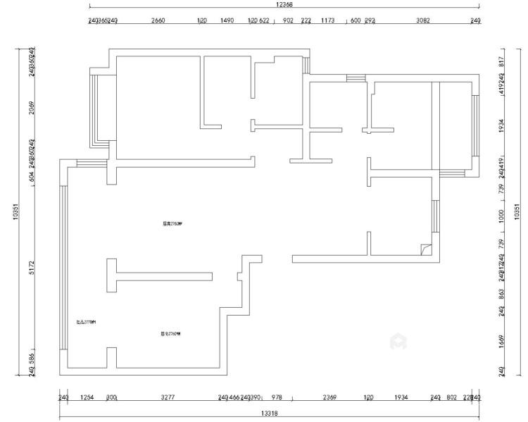 110平誉峰苑北欧风格-简单计划-业主需求&原始结构图