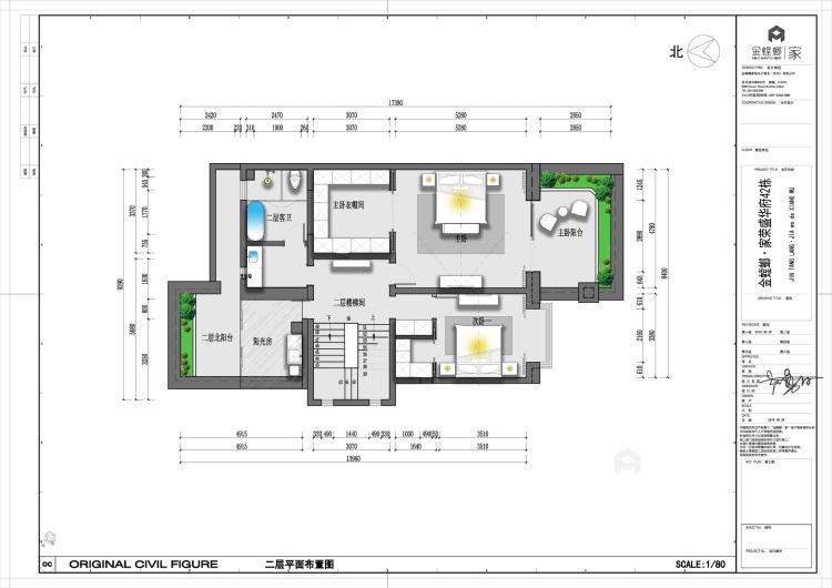 400平荣盛华府新中式风格-静-平面设计图及设计说明