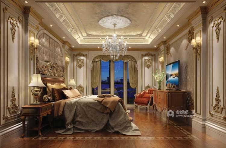 240平金鹰欧式风格-卧室效果图及设计说明