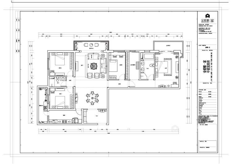 240平金鹰欧式风格-平面设计图及设计说明