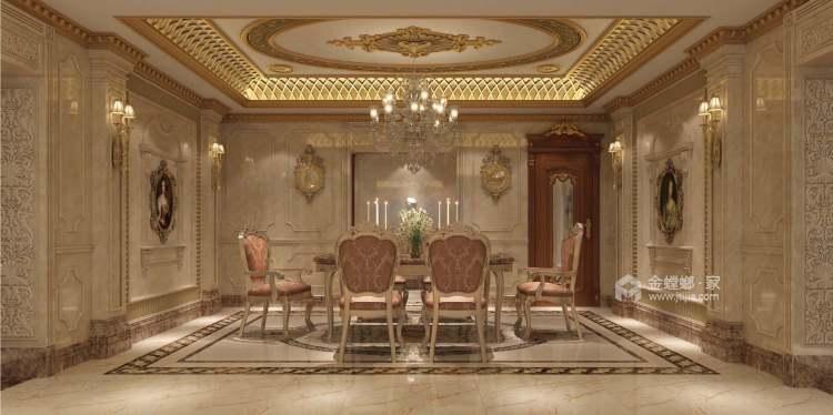 240平金鹰欧式风格-餐厅效果图及设计说明