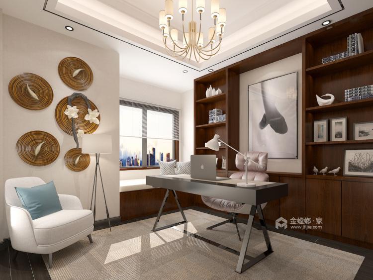 400平自建别墅新中式风格-生活·田间-书房