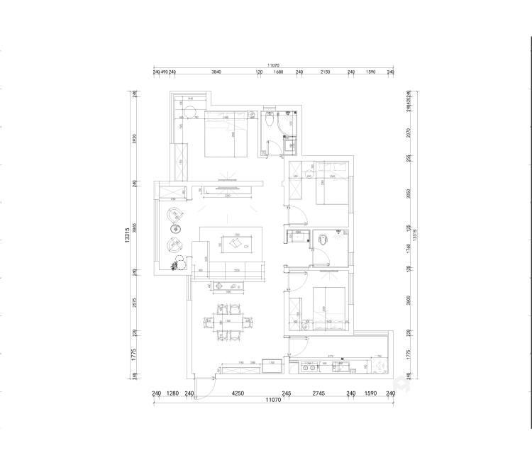 113平邦泰国际社区北欧风格-平面设计图及设计说明