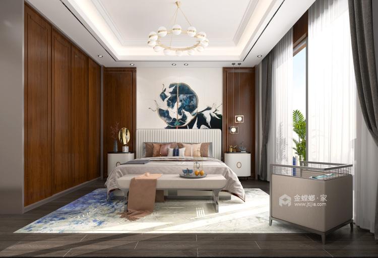 400平自建别墅新中式风格-生活·田间-卧室效果图及设计说明