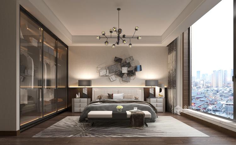 400平荣盛华府新中式风格-静-卧室效果图及设计说明