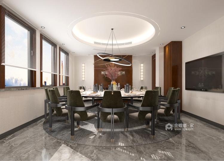 400平自建别墅新中式风格-生活·田间-餐厅效果图及设计说明
