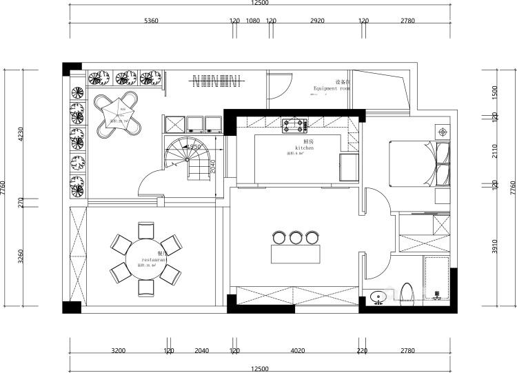 200平北辰香麓欧式风格-视界观-平面设计图及设计说明