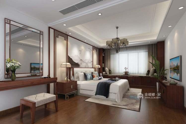 230平美家印象新中式风格-卧室效果图及设计说明