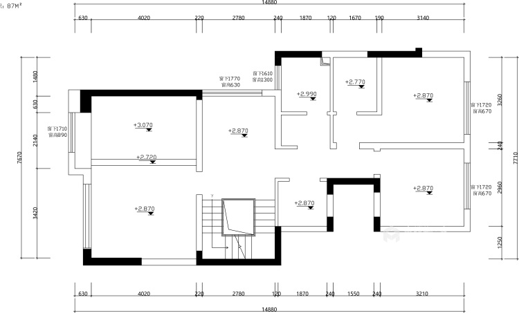 200平北辰香麓欧式风格-视界观-业主需求&原始结构图